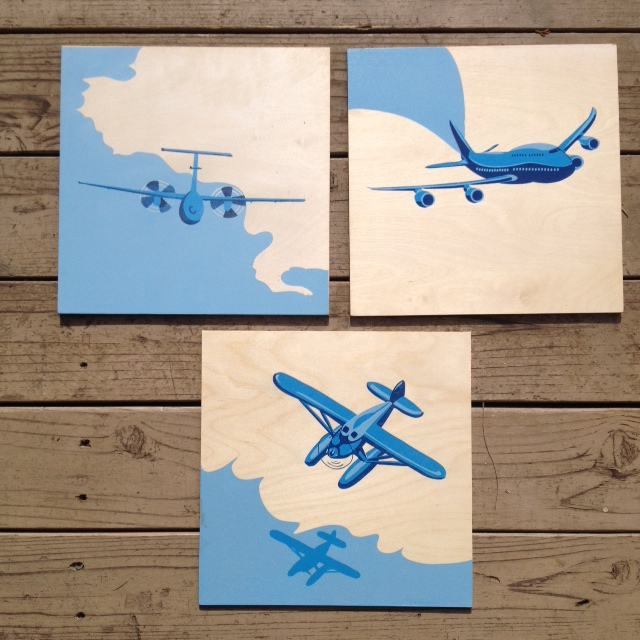 Blues Planes *Need Frames* 12x12 $75ea