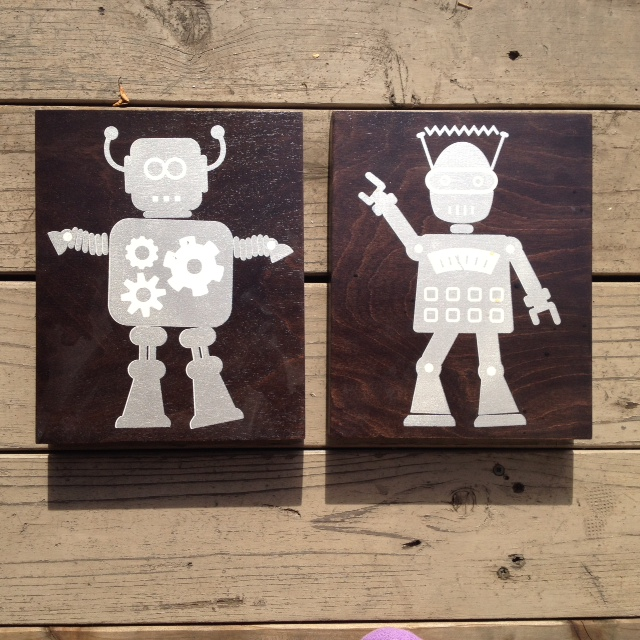 Popbot + hustlebot - 8x10 - $48ea