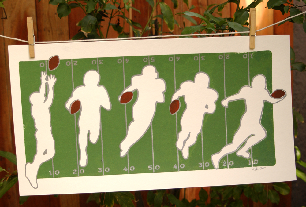 "Football reception - 24""x12"""