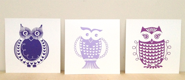 "Set of Owls 10x10"" each"