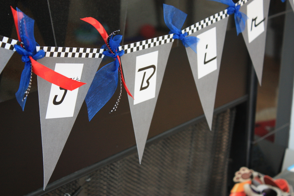 Race Car Theme Birthday Banner