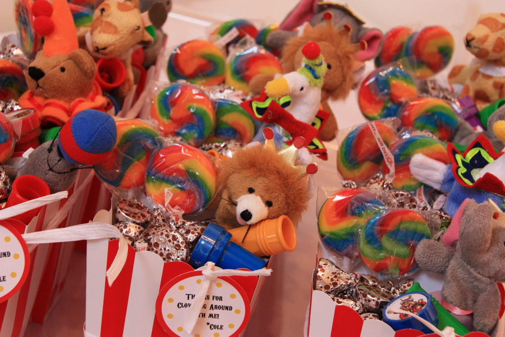 Custom Circus Theme Party Favors