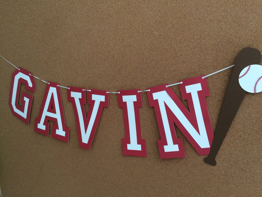 Baseball Theme Name Banner