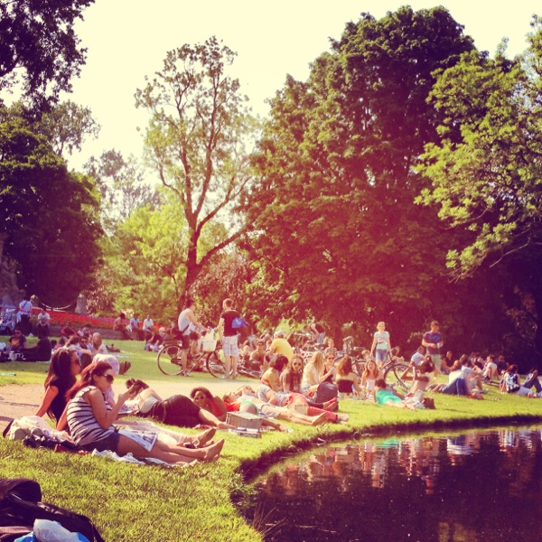 Vondelpark for lunch.