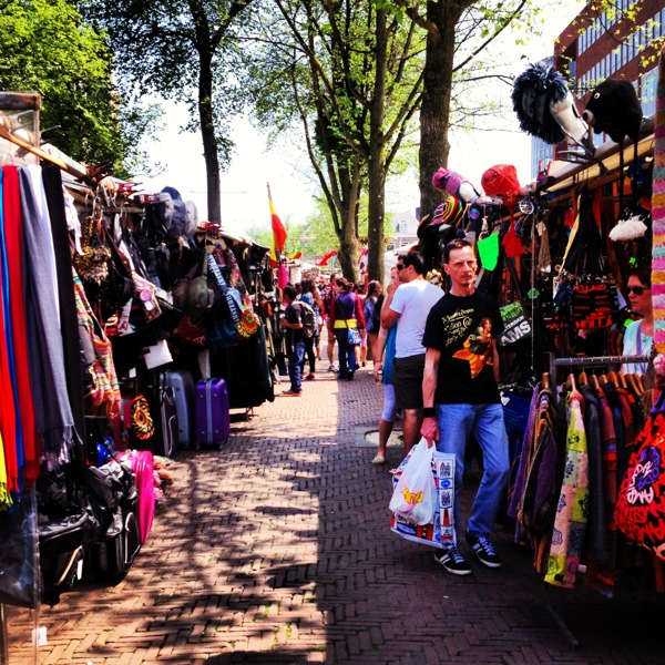The flea market on Waterlooplein Straat.