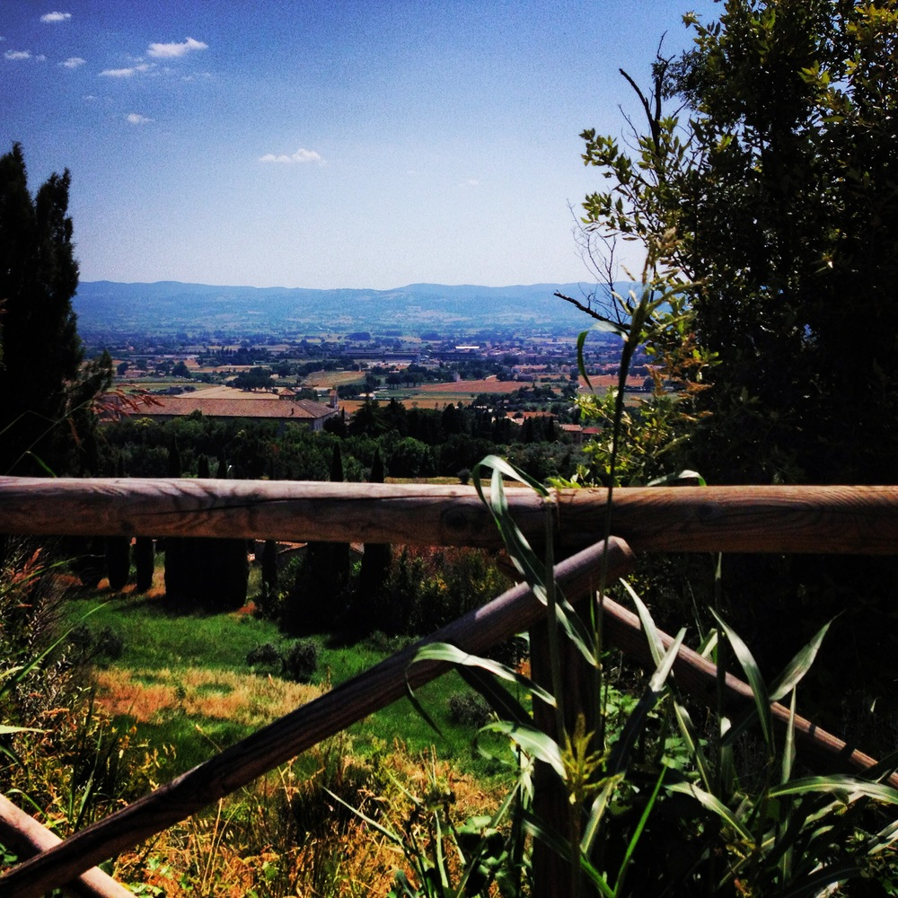 The view from the bottom of Assisi overlooking the Tuscan region.
