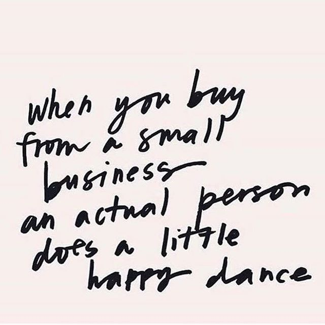 Always shop small. #smallbusinesssaturday