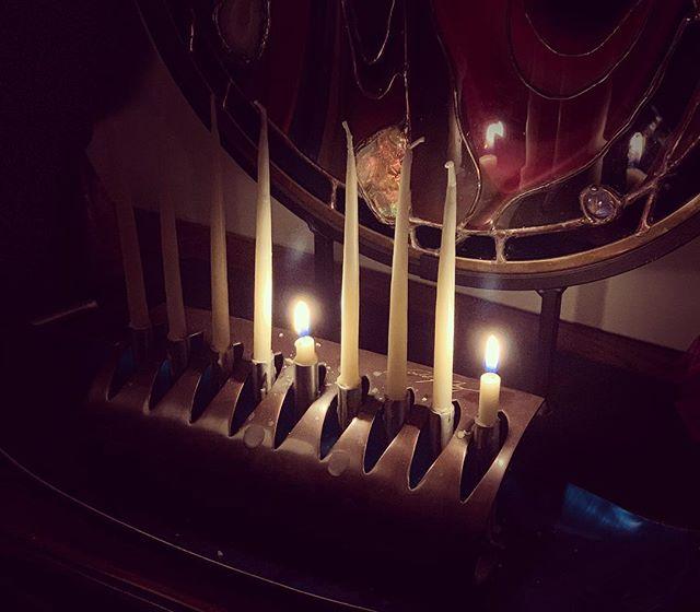 Happy Hanukkah Everyone! #menorah #candlelight #thankful