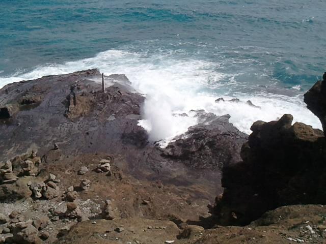 Around the island. Halona Blowhole