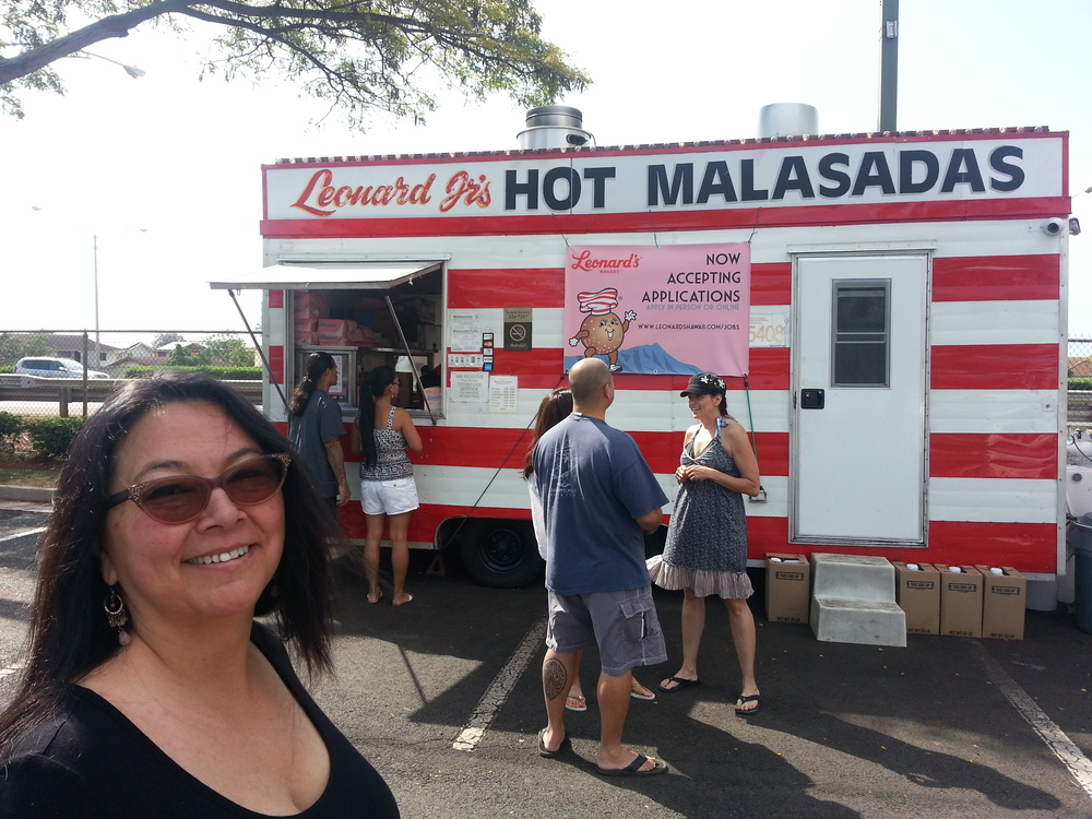Hot Malasadas waiting for us