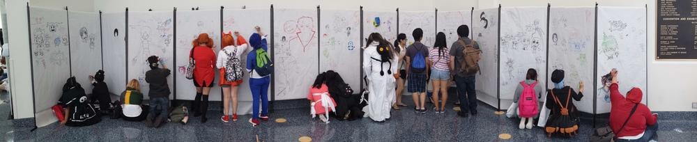 AnimeExpo 2013 - Free hand drawings