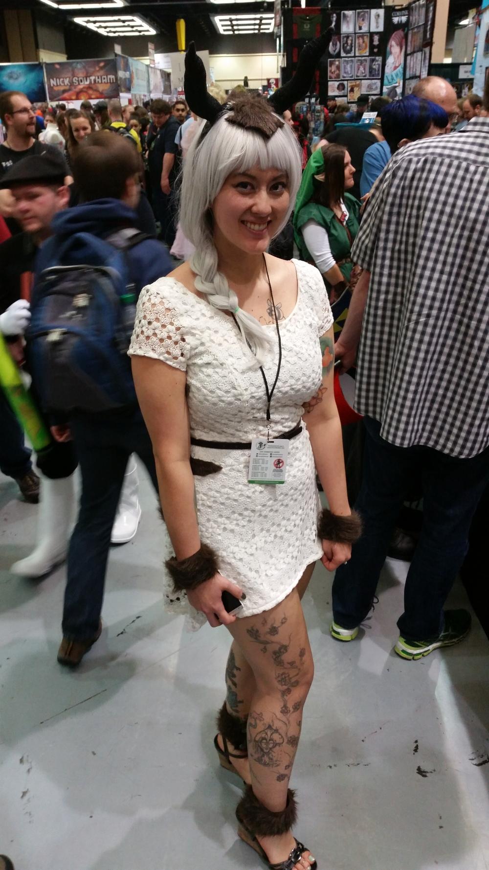 Cute #appa #cosplayer from #avatar at #ECCC #otaku #manga  #costumes