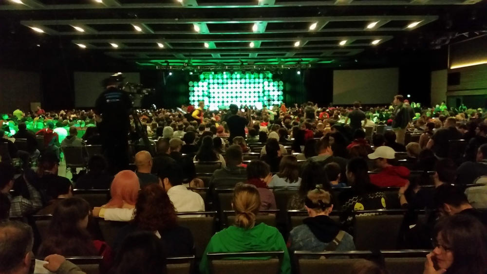 Full house in anticipation for #StanLee himself. #Excelsior #ECCC