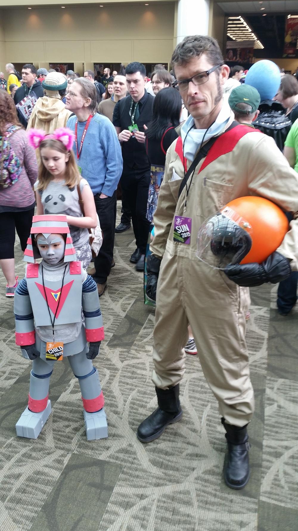 Another classic #anime at #ECCC #JohnnySokko and his #GiantRobo #tokusatsu #cosplay #otaku