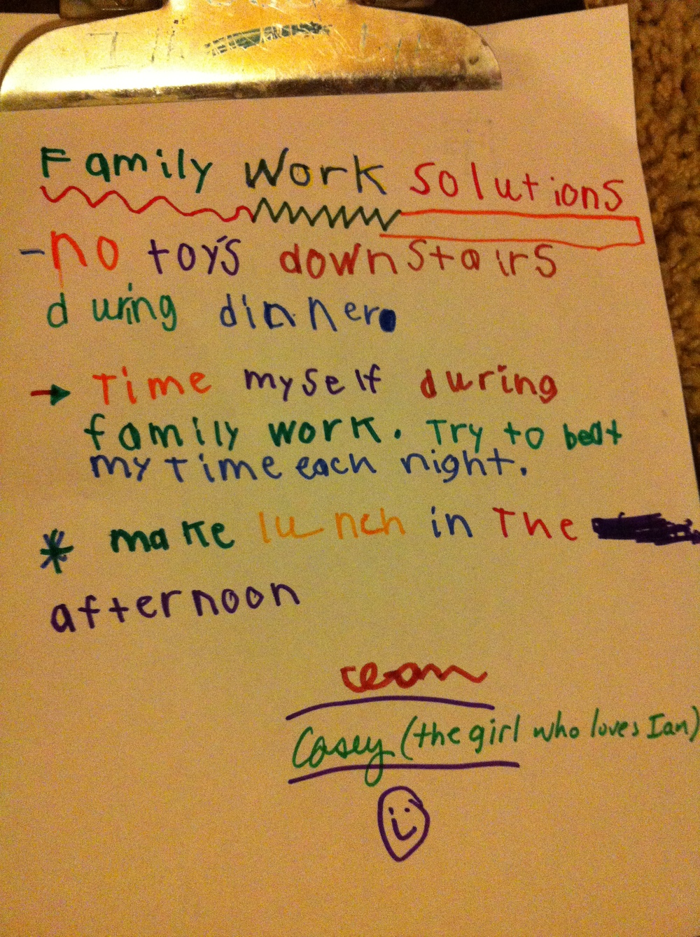 Ian's solutions for a smoother Family Work time...
