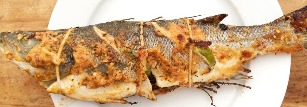 """Salone"" style grilled branzino"