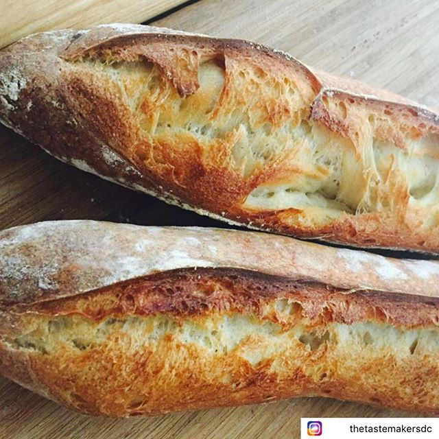 We're still very much about bread love!  Our baguette & batard workshop tomorrow at @thetastemakersdc is all SOLD OUT!  But check out other workshops on their calendar #breadlove #breadworkshop