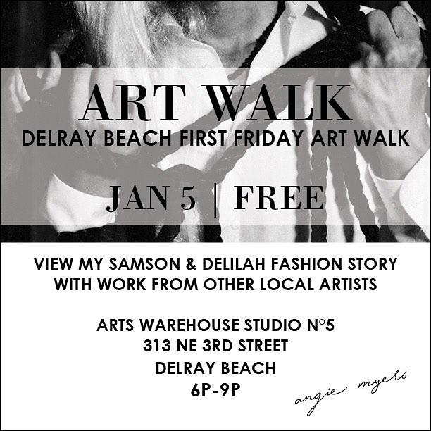 Hope to see you all tomorrow night at the Delray Beach First Friday Art Walk! Jan 5. 6-9p. Check out and support work from local artists!