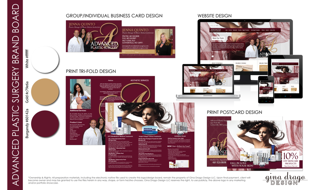Advanced plastic surgery gina drago design i would highly recommend her to anyone looking to update their businessbrand the advanced plastic surgery team reheart Gallery