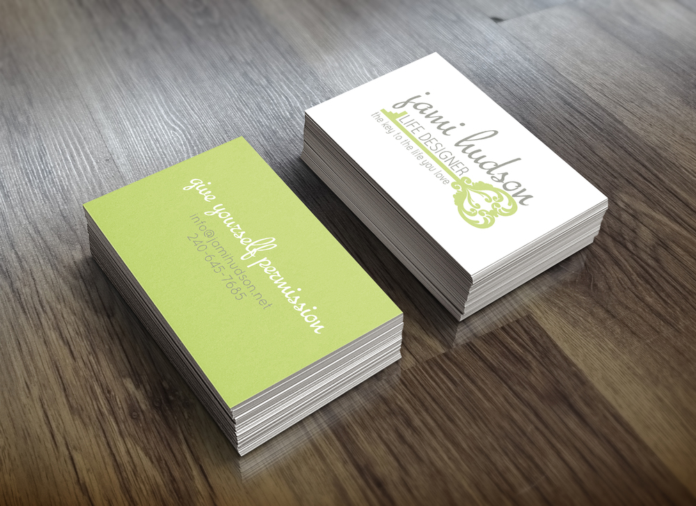 Jami hudson life coach maryland and beyond gina drago design business card design colourmoves