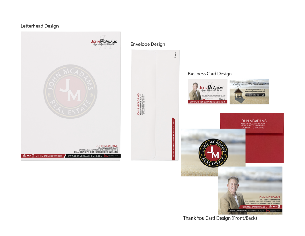 Real Estate Stationery Set Design