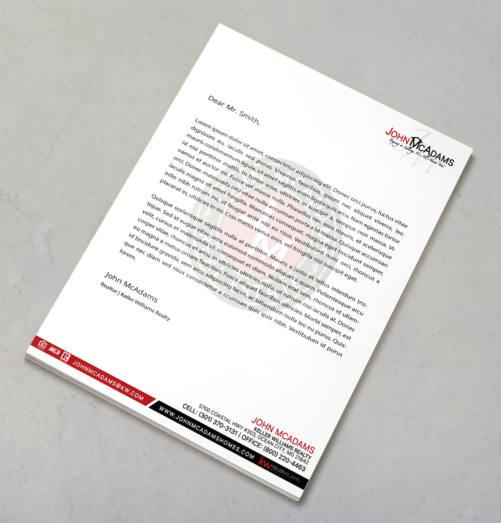 Real Estate Letterhead Design