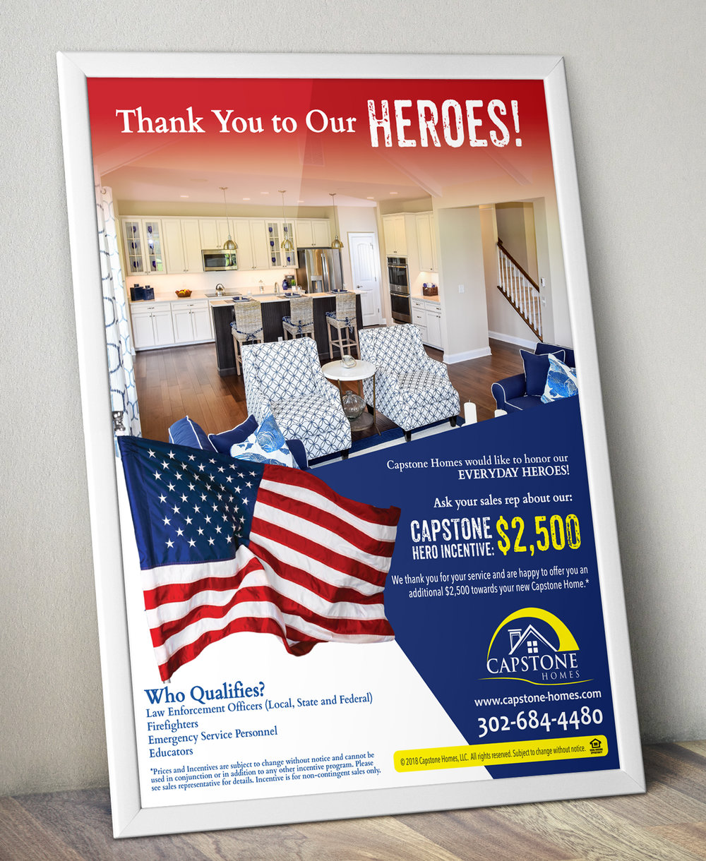 Poster Design Capstone Homes Delaware