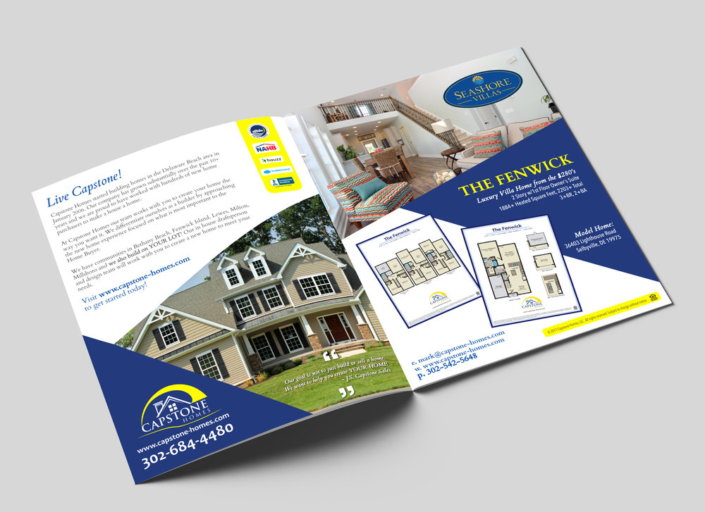 Flyer Design Capstone Homes Delaware