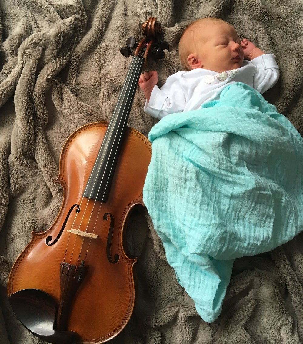 Included (for size reference only, of course ;) is a beautiful Collin Mézin violin currently available at Violin Atelier Schmidt!