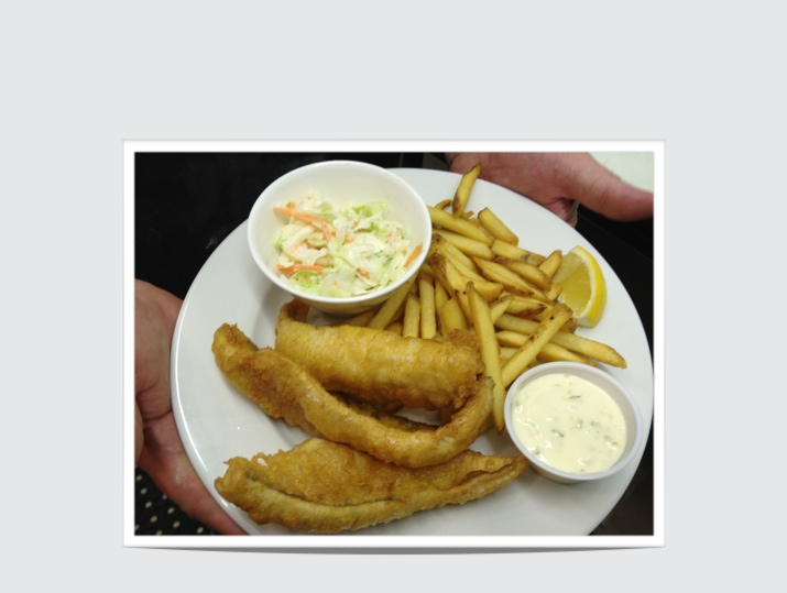 Our delicious Fried Perch dinner!