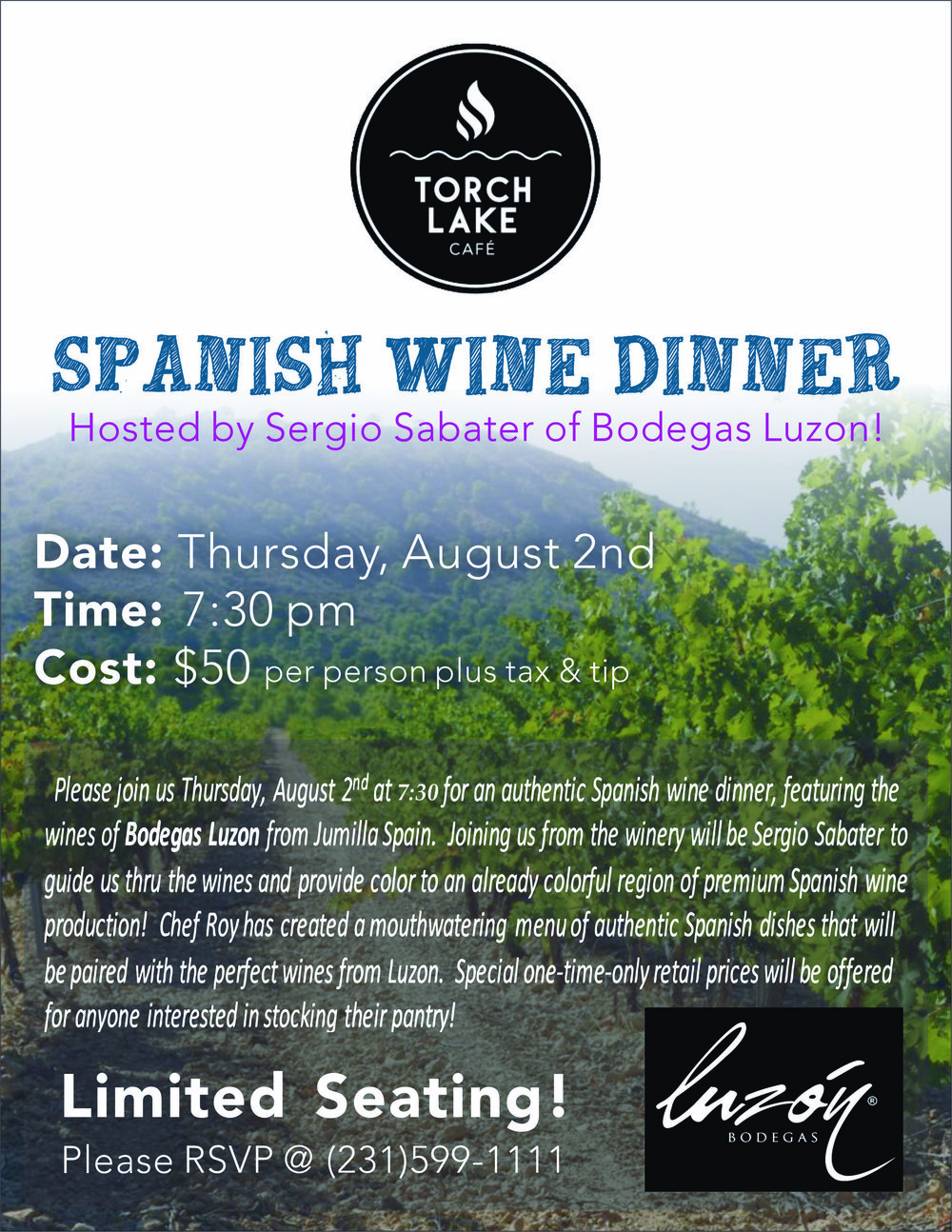 Torch Lake Cafe Spanish Wine Dinner Poster 1.jpg