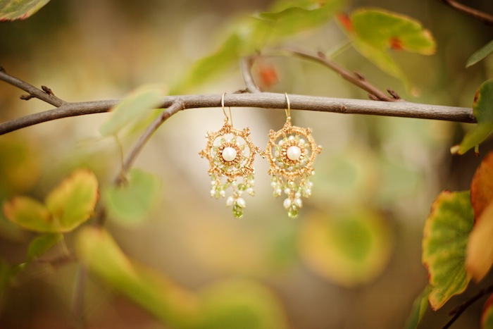 Rebecca's Custom Bridal Earrings