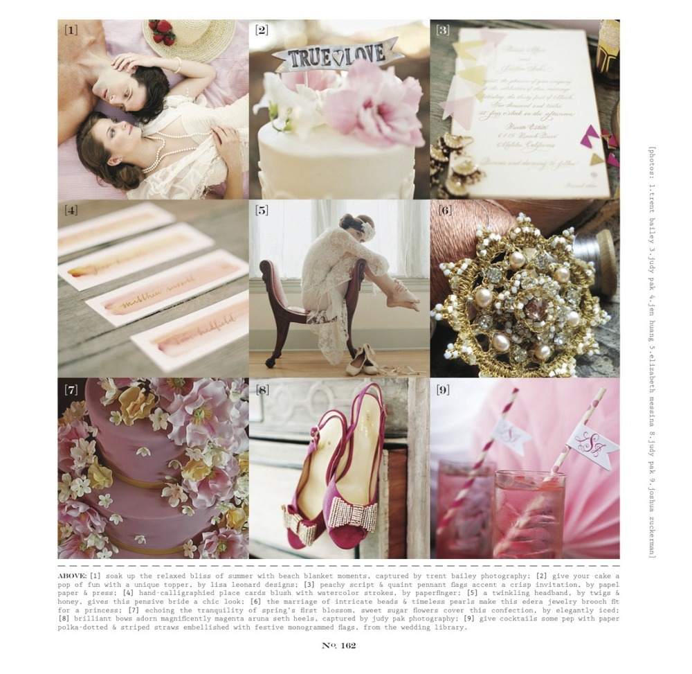 "Edera Jewelry's  ""Rosalia"" Brooch, featured in the Spring/Summer 2012 Issue of WellWed Hamptons Magazine."