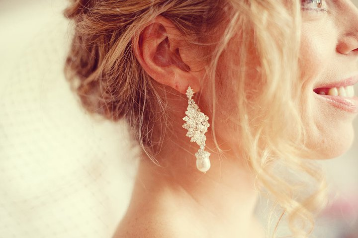 Dina in Custom Bridal Earrings