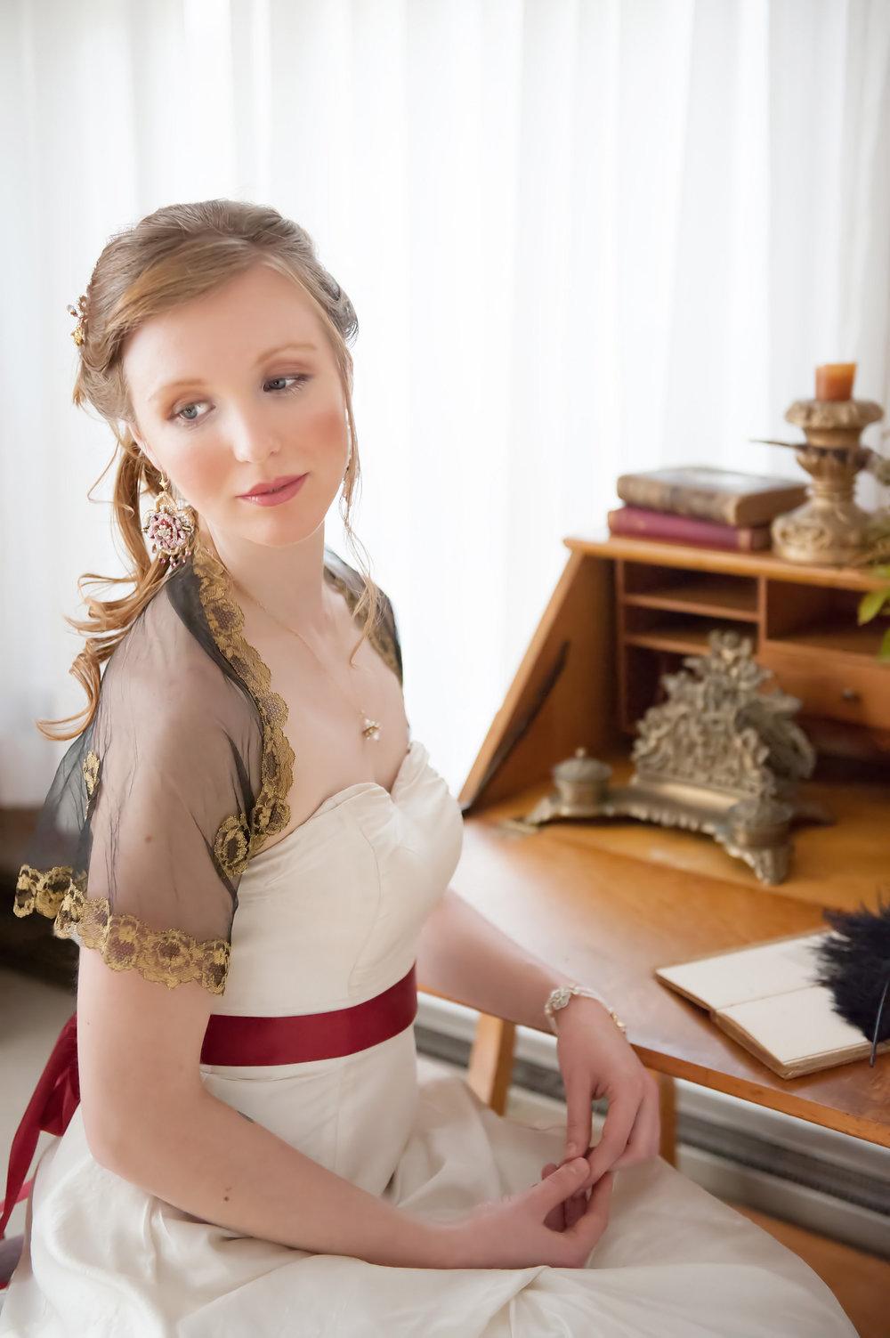 Tudor Rose  Earrings,  Elspeth  Necklace, and  Gloriana  Bracelet
