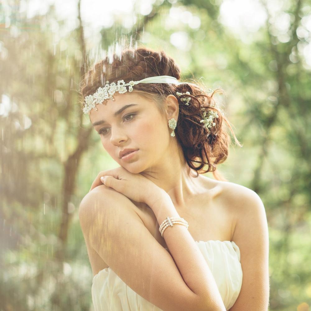 Eirene Headband + Galatea Earrings