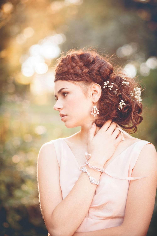 Anthea Earrings + Bracelet, Acanthus Bracelet