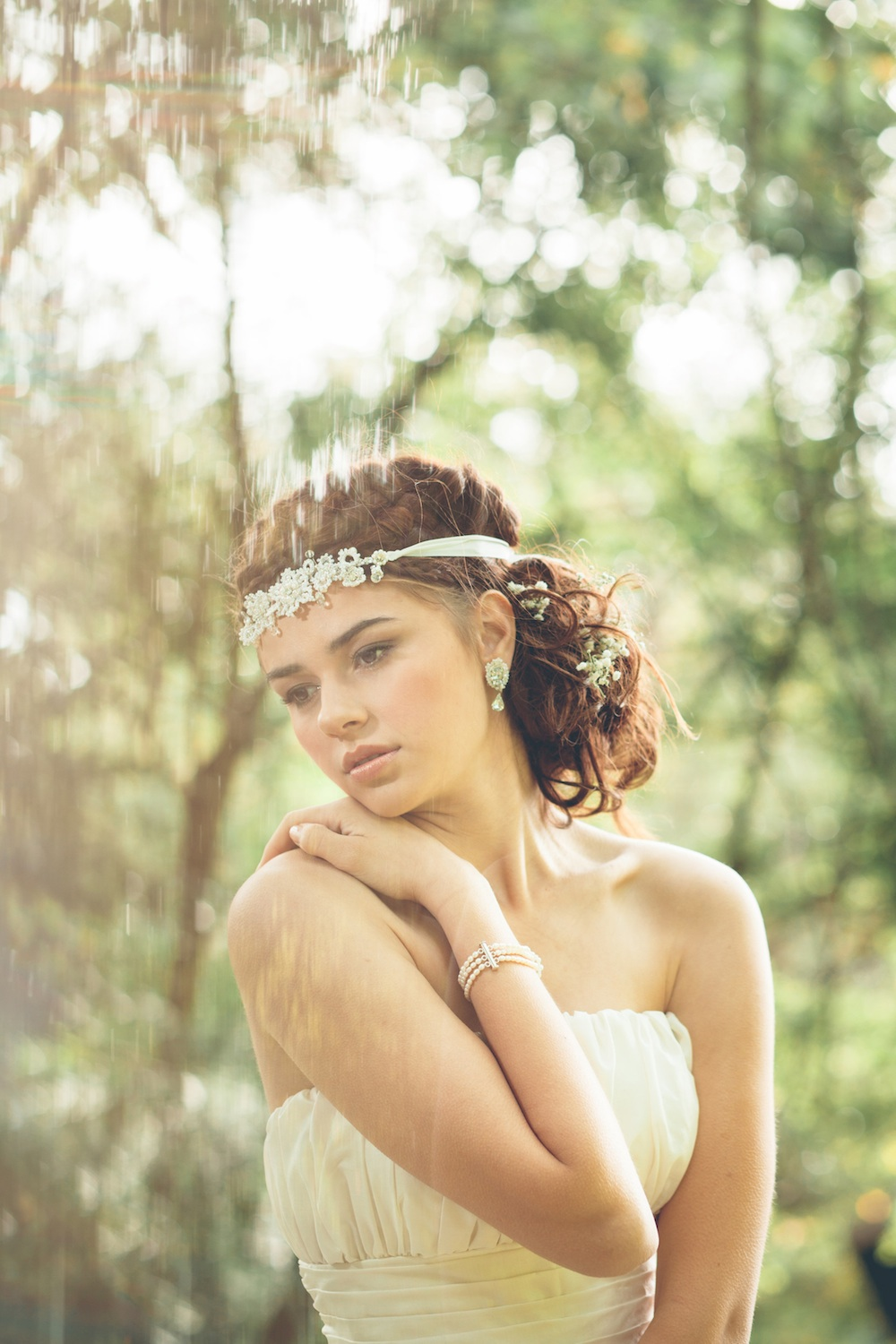 Eirene Headband  +  Galatea Earrings