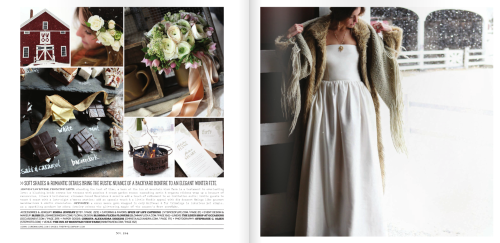 "The ""Serenissima"" necklace, featured in Vermont Vows Magazine. Available by special order."