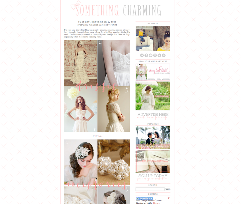 """""""Perla"""" Earrings, featured on the wedding blog  Something Charming  ."""