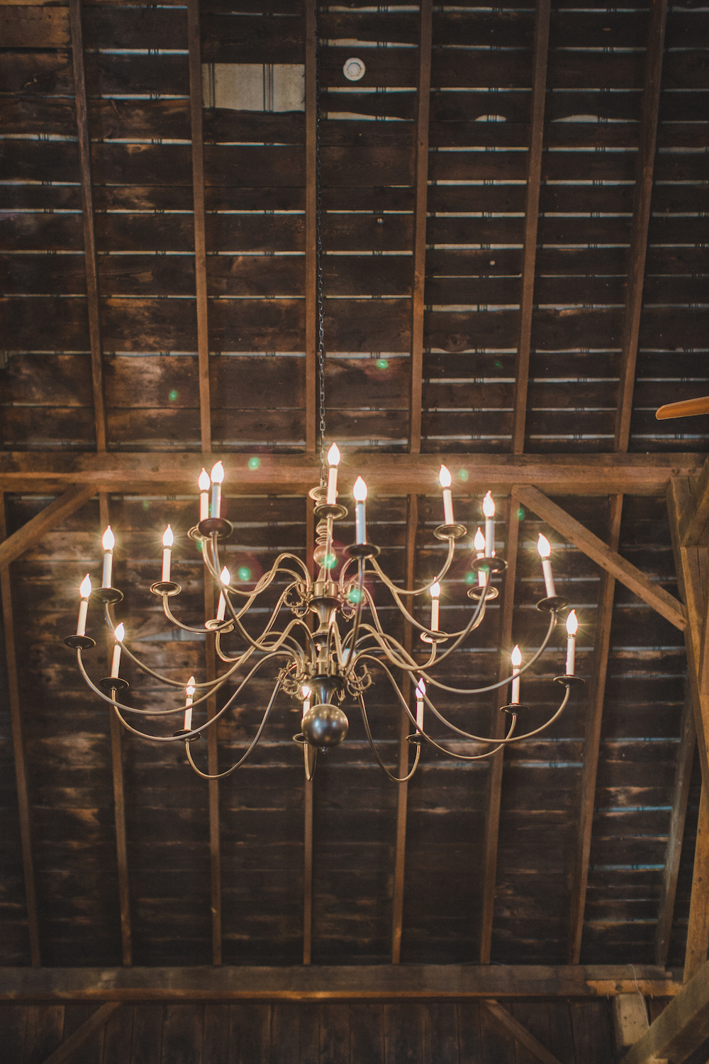 barn wedding chandelier
