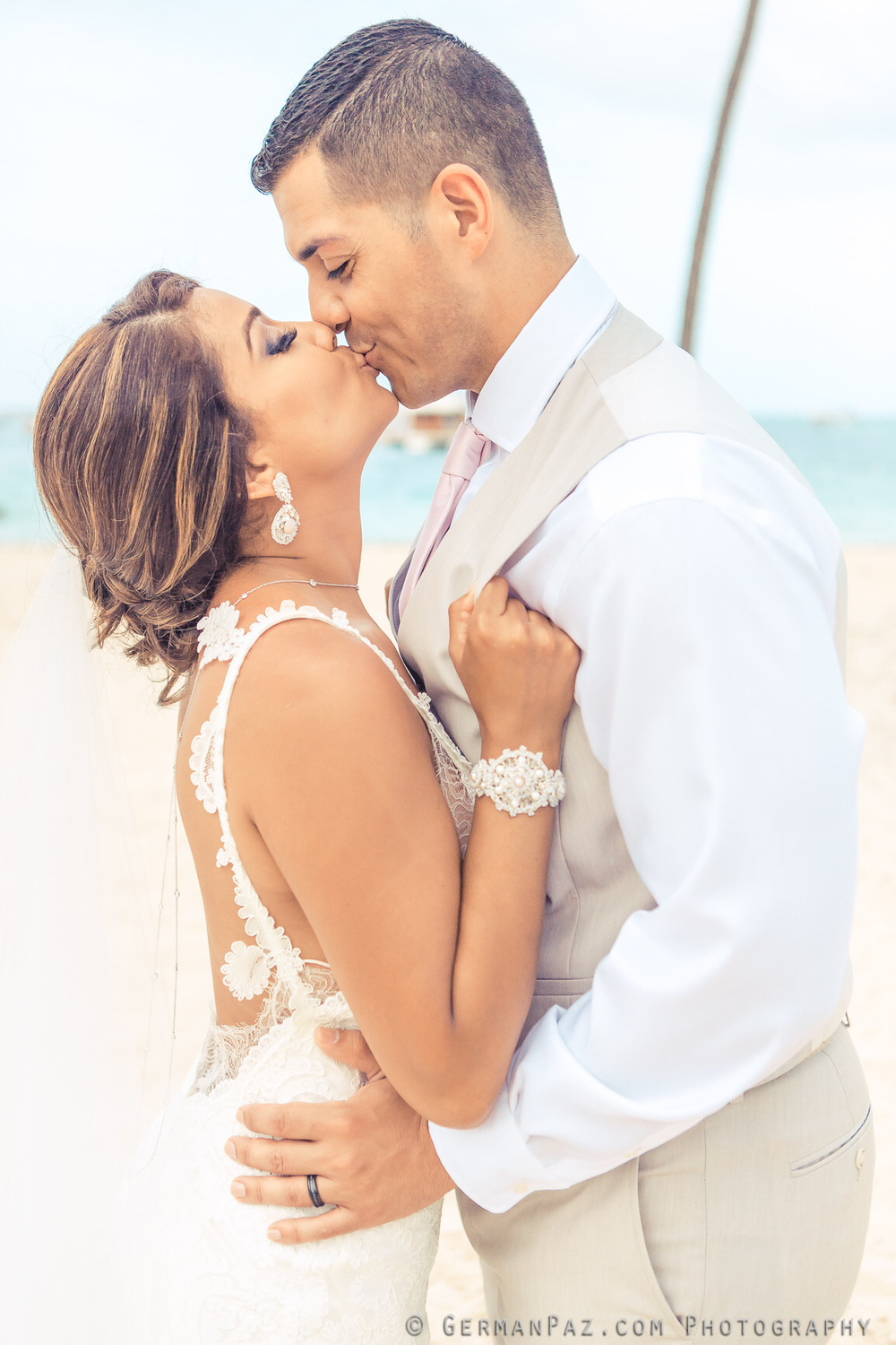 pink beach wedding jewelry inspiration