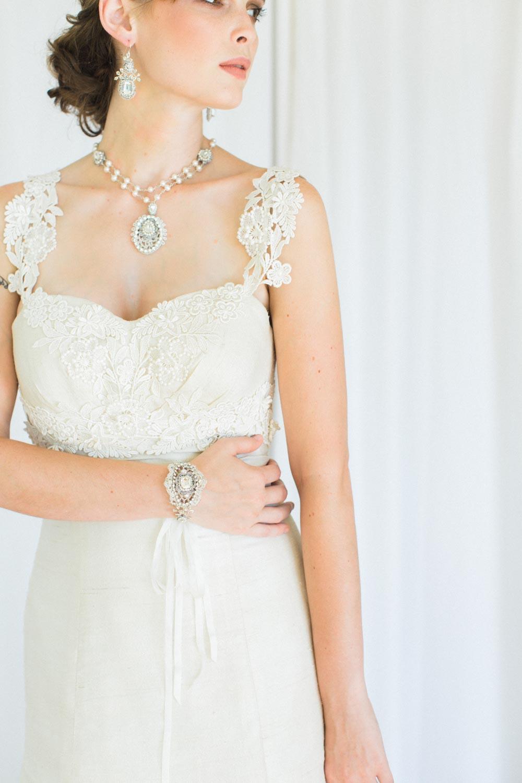 Victorine Bracelet & Earrings, Lilliane Necklace