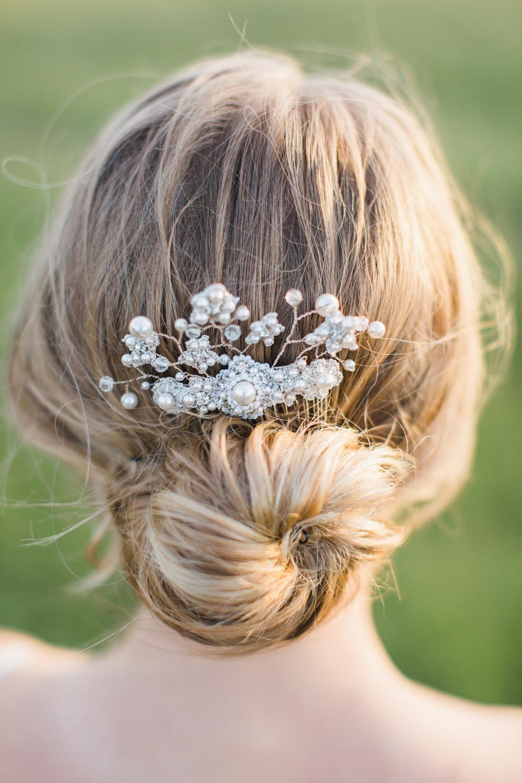 ivy vine pearl silver bridal comb