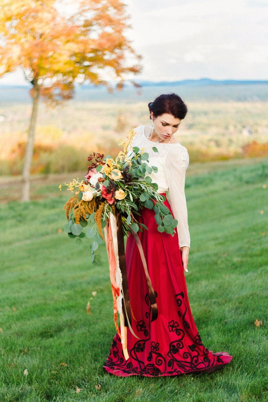 Autumn, Equestrian-Inspired Fine Art Wedding