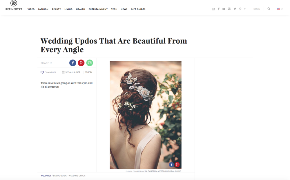 """The """"Aphrodite"""" hair vine, featured on  Refinery29 ."""