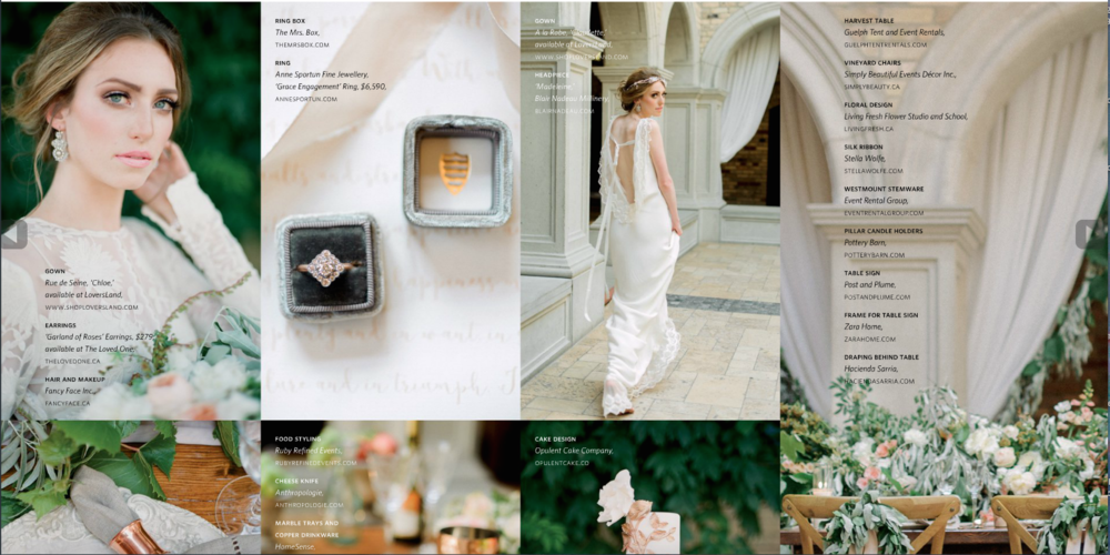 "Edera ""Garland of Roses"" earrings featured in  WedLuxe Magazine ."