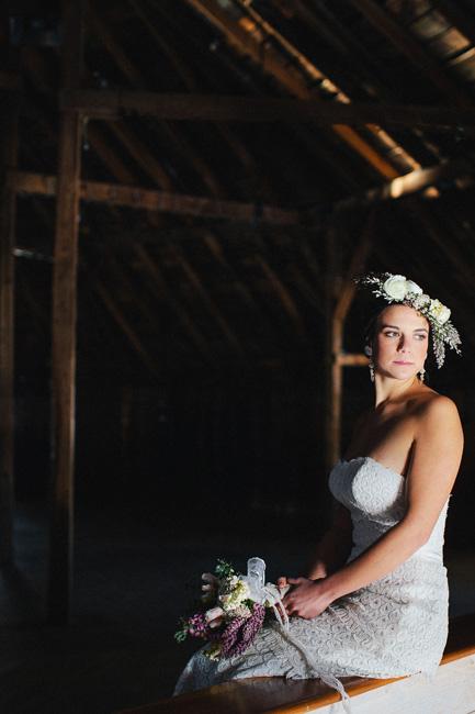 rustic, woodland vermont barn wedding inspiration