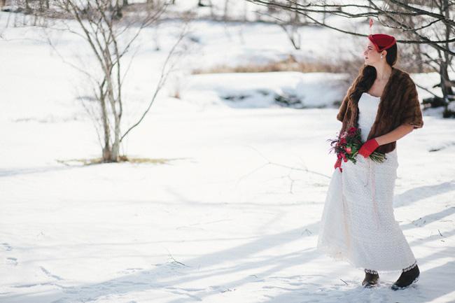 vermont winter wedding inspiration | new england bridal jewelry designer