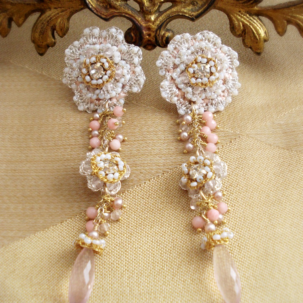Climbing Roses Earrings - Available by Special Order